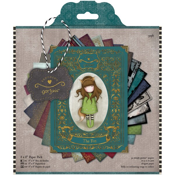Simply Gorjuss Paper Pack 8inX8in 32/Sheets