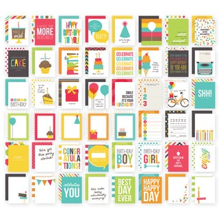 Sn@p! Double-Sided Card Pack 3inX4in 48/Pkg-Birthday