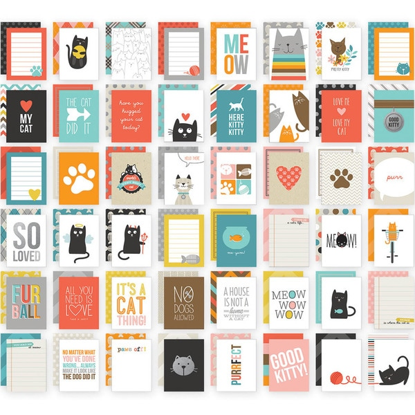 Sn@p! Double-Sided Card Pack 3inX4in 48/Pkg-Cat