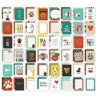 Sn@p! Double-Sided Card Pack 3inX4in 48/Pkg-Dog