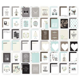 Sn@p! Double-Sided Card Pack 3inX4in 48/Pkg-Wedding