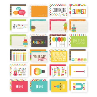 Sn@p! Double-Sided Card Pack 4inX6in 24/Pkg-Birthday