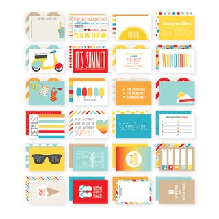 Sn@p! Double-Sided Card Pack 4inX6in 24/Pkg-Summer