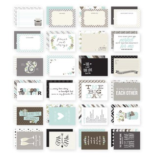 Sn@p! Double-Sided Card Pack 4inX6in 24/Pkg-Wedding