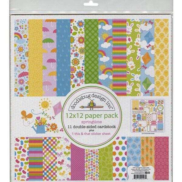 Springtime Paper Pack 12inX12in