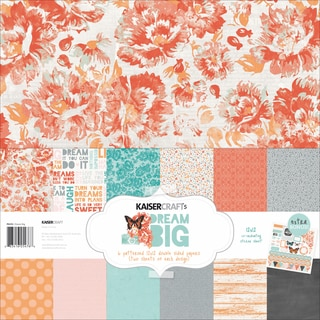 Kaisercraft Paper Pack 12inX12in 12/Pkg-Dream Big
