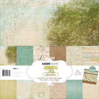 Kaisercraft Paper Pack 12inX12in 12/Pkg-Heirloom