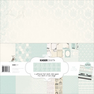 Kaisercraft Paper Pack 12inX12in 12/Pkg-Pitter Patter - Boy