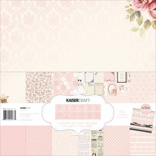 Kaisercraft Paper Pack 12inX12in 12/Pkg-Pitter Patter - Girl