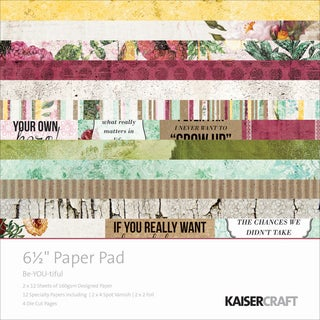 Kaisercraft Paper Pad 6.5inX6.5in 40/Pkg-Be-You-Tiful