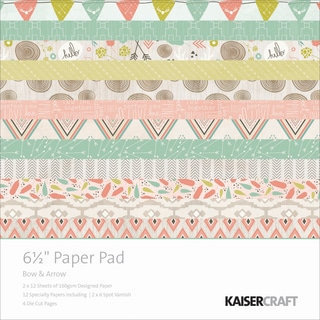 Kaisercraft Paper Pad 6.5inX6.5in 40/Pkg-Bow & Arrow