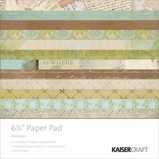 Kaisercraft Paper Pad 6.5inX6.5in 40/Pkg-Heirloom