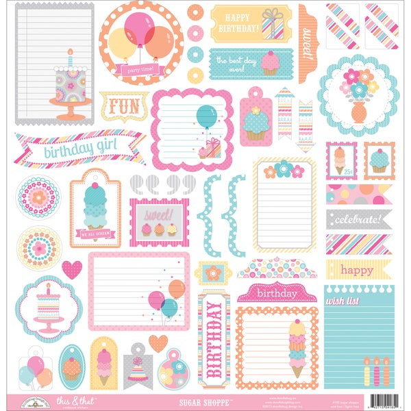 Sugar Shoppe This & That Cardstock Stickers 12inX12in
