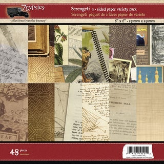 7 Gypsies Paper Pad 6inX6in 48/Pkg-Serengeti