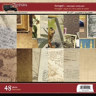 7 Gypsies Paper Pad 8inX8in 48/Pkg-Serengeti