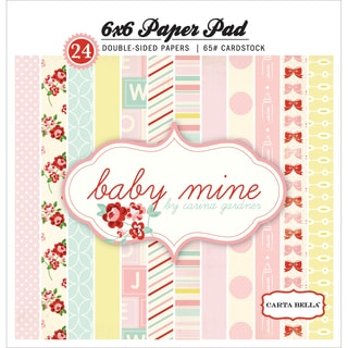 Carta Bella Paper Pad 6inX6in 24/Pkg-Baby Mine/Girl