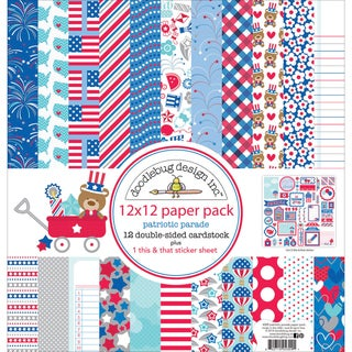 Doodlebug Paper Pack 12inX12in-Patriotic Parade