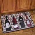 Memory Foam Assorted Wine Design Kitchen Floor Mat
