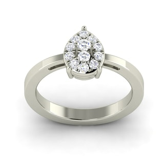Shyla 18k White Gold 1/4ct TDW Pear Shape Diamond Ring (G-H, SI1-SI2)