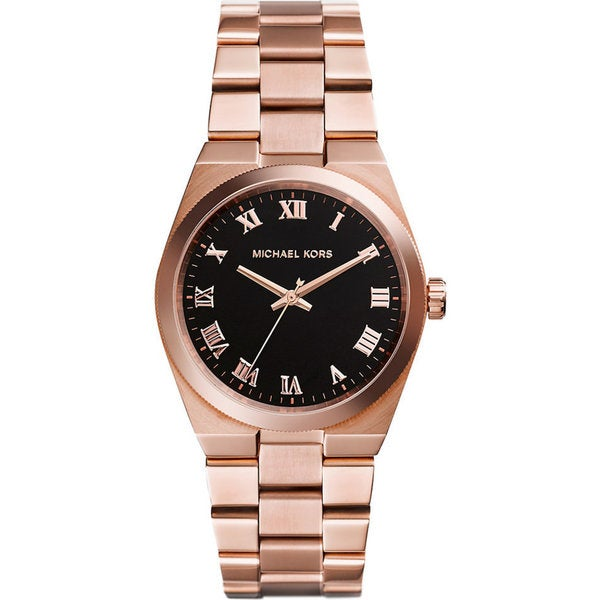 Michael Kors Women's MK5937 Channing Round Rosetone Bracelet Watch