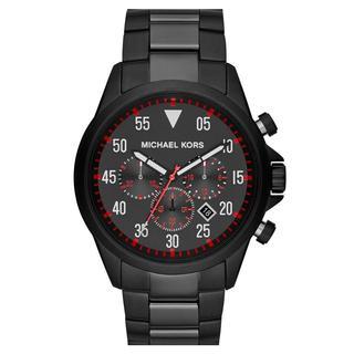 Michael Kors Men's MK8332 Gage Black Red Dial Steel Chronograph Watch