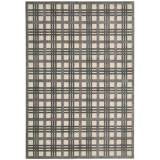 Nourison Graphic Illusions Ivory Taupe Rug (5'3 x 7'5)