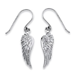 Toscana Collection Sterling Silver Wing Dangle Earrings