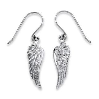 PalmBeach Sterling Silver Wing Dangle Earrings Tailored