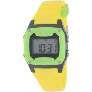 Freestyle Men's Shark Classic 101808 Yellow Rubber Quartz Watch with Digital Dial