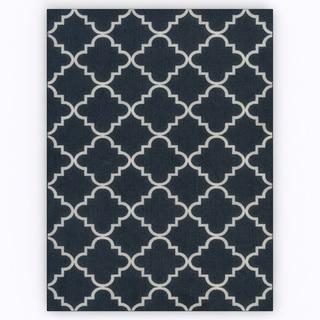 Fancy Trellis Navy Rug (8' x 10')