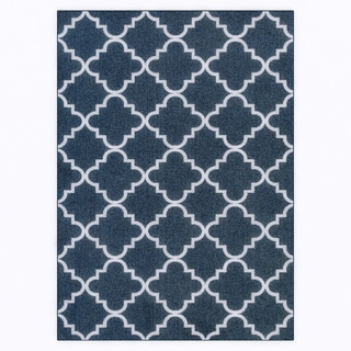 Mohawk Home Soho Fancy Trellis Navy (5' x 7')