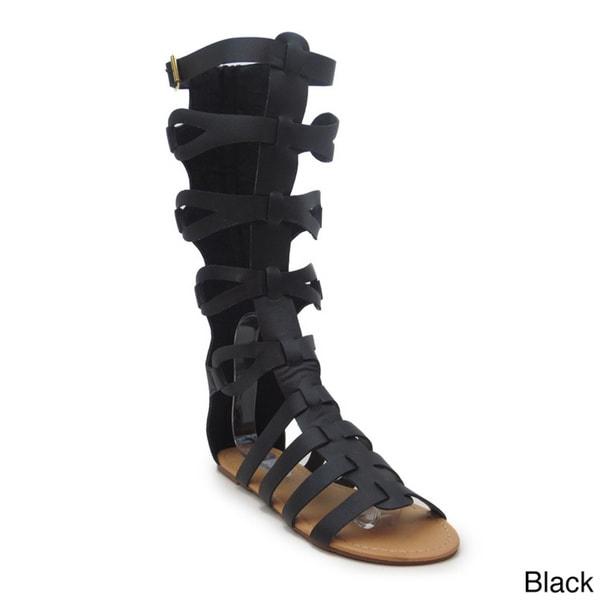 Blue Women's 'Houston' Mid-calf Gladiator Sandals