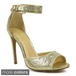 Celeste Women's 'Marie-01' Satin Rhinestone Dress Heels