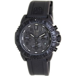Luminox Men's 3081.BO.1 Black Silicone Swiss Quartz Watch