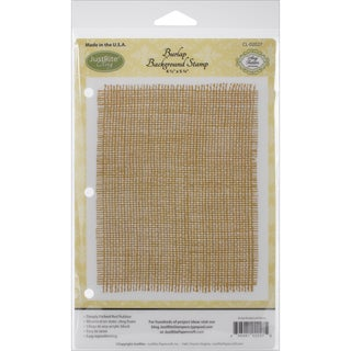 JustRite Papercraft Cling Background Stamp 4.5inX5.75in-Burlap