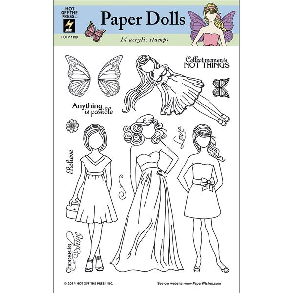 Hot Off The Press Acrylic Stamps 6inX8in Sheet-Faceless Dolls