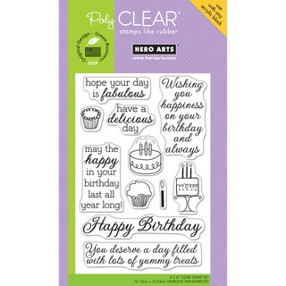 Hero Arts Clear Stamps 4inX6in Sheet-Yummy Treats