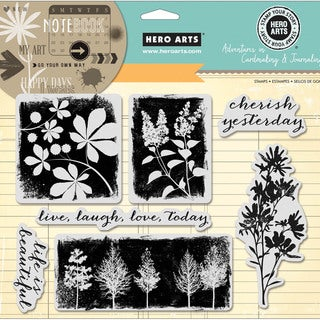 Hero Arts Adventures In Cardmaking & Journaling Cling Stamps-Cherish Yesterday 8inX6in
