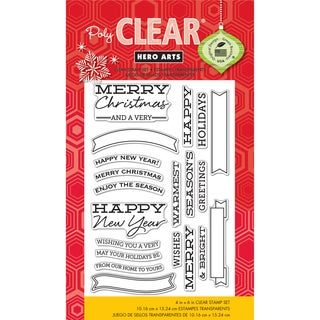 Hero Arts Clear Stamps 4inX6in Sheet-Banners & Messages