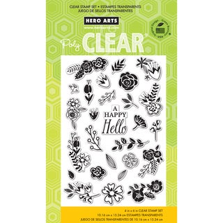 Hero Arts Clear Stamps 4inX6in Sheet-Flower Garden