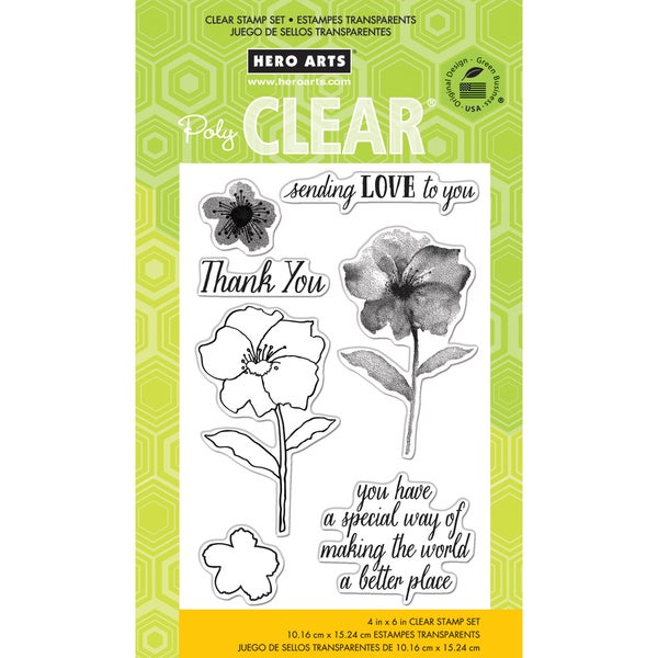 Hero Arts Clear Stamps 4inX6in Sheet-Making The World A Better Place