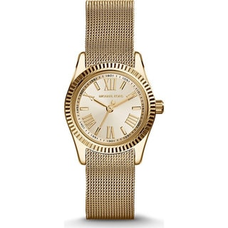 Michael Kors Women's MK3283 Petite Lexington Goldtone Tone Watch