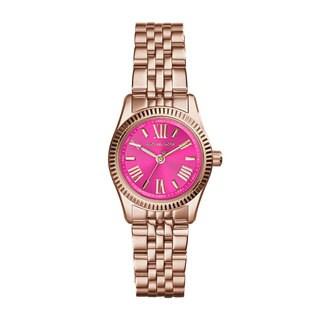 Michael Kors Women's MK3285 Mini Lexington Pink Rose Goldtone Watch