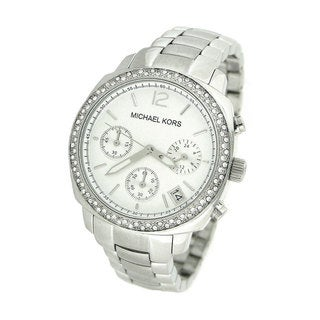 Michael Kors Women's MK5178 Crystal Silvertone Chronograph Watch
