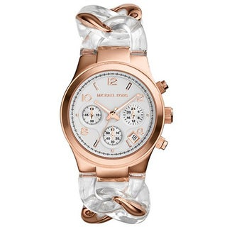 Michael Kors Women's MK4282 Runway Twist Rose Goldtone White Dial Watch