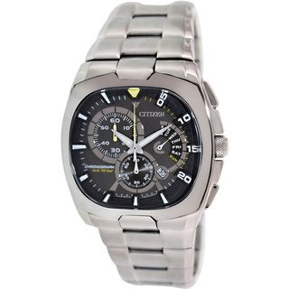 Citizen Men's Eco-Drive AN9000-53H Silvertone Stainless Steel Eco-Drive Watch