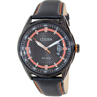 Citizen Men's Eco-Drive AW1184-13E Black Leather Eco-Drive Watch
