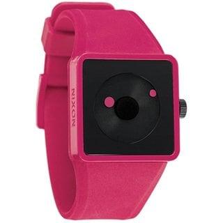 Nixon Men's Newton A116220 Pink Polyurethane Analog Quartz Watch with Black Dial