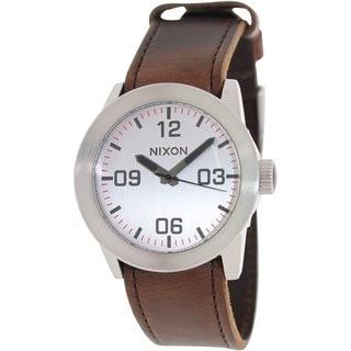 Nixon Men's Private A0491113 Brown Leather Quartz Watch