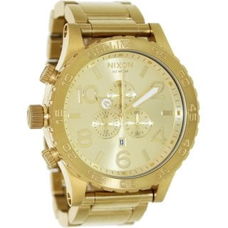 Nixon Men's 51-30 Chrono A083502 Goldtone Stainless Steel Quartz Watch with Goldtone Dial
